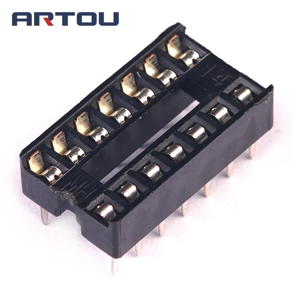 40PCS 14Pin 14P DIP IC Sockets Adaptor Solder Type
