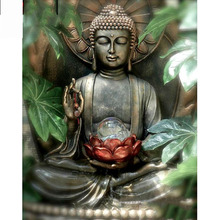 Full Square/Round Drill 5D DIY Diamond Painting Buddha Lotus Embroidery Cross Stitch  Home Decor Gift 5d diamond painting religion buddha flower cross stitch diy full square or round diamond embroidery picture home decoration gift