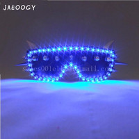 2018 Blue Led Glasses Flashing Halloween Party Light Up Led Luminous Glasses Eyewear For Event Supplies DJ Club Stage Show
