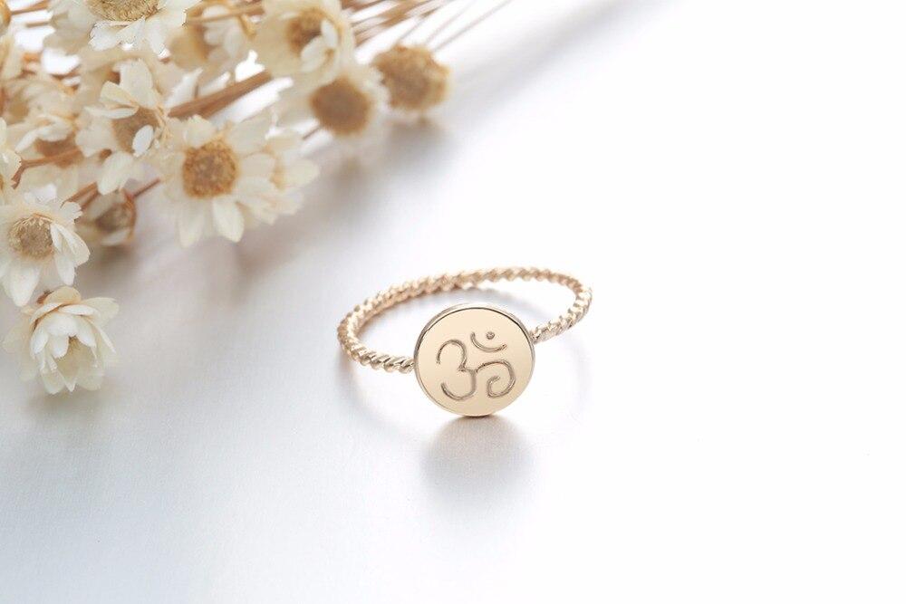 Bague torsadée dorée, symbole OM AUM OHM, yoga bijou tendance zen