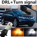 Chita Para 2010-2014 Nissan Murano SUV DRL Daytime Running Light & Turn Signal Luz de Aviso da lâmpada Xenon Branco âmbar + navio Livre