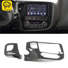 CAR MANGO for Mitsubishi Outlander 2017 Car Styling Navigation GPS Screen Monitor Panel Cover Frame Sticker Interior Accessories(China)