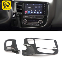 CAR MANGO for Mitsubishi Outlander 2017 Car Styling Navigation GPS Screen Monitor Panel Cover Frame Sticker Interior Accessories