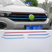 Lapetus Colorful Front Center Grille Cover Racing Grill Trim Accessories Exterior Fit For Volkswagen T-Roc T Roc 2018 2019 / ABS