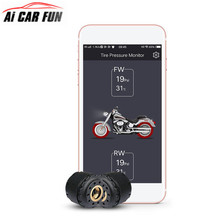 TP200 Motorcycle Bluetooth Tire Pressure Monitoring System TPMS Mobile Phone APP Detection
