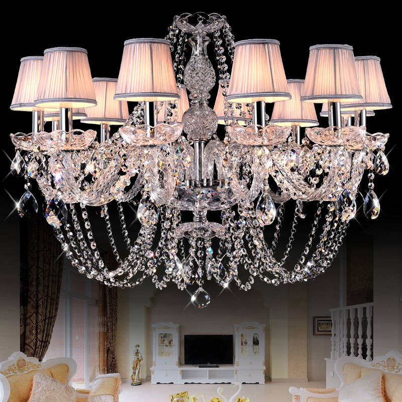 European Style Crystal Chandeliers Modern LED Chandeliers For Living Room Kitchen lustres de sala de cristal Wedding decoration
