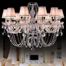 hot deal buy european style crystal chandeliers modern led chandeliers for living room kitchen lustres de sala de cristal wedding decoration