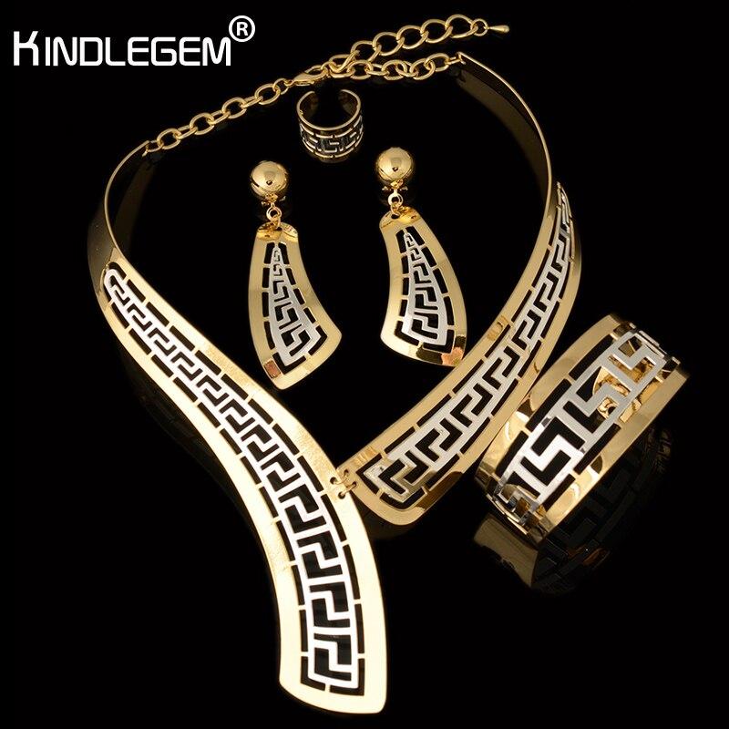 Dubai Jewelry Set Luxe Gold Big Nigerian Wedding African Beads Jewelry Set