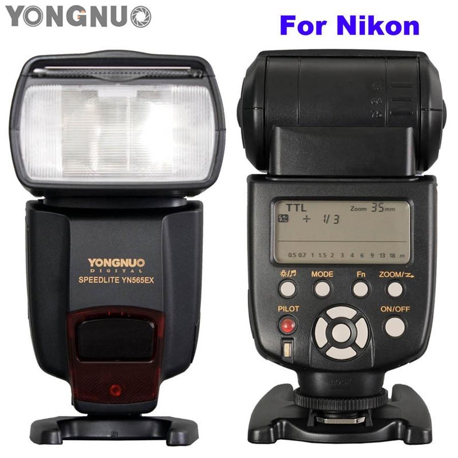 i-TTL Flash Speedlite YN-565EX YN565EX Speedlight for Nikon D7000 D5100 D5000 D3100 D3000 D700 D300 D300s D200 D90 D80 yn565ex 2 1 lcd flash speedlite speedlight for nikon d700 more 4 x aa not included