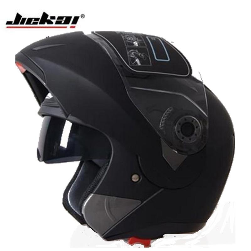 Prix pour Vente chaude 7 couleurs Jiekai 105 flip up casque de moto avec intérieure double visière système, tout le monde peut utiliser
