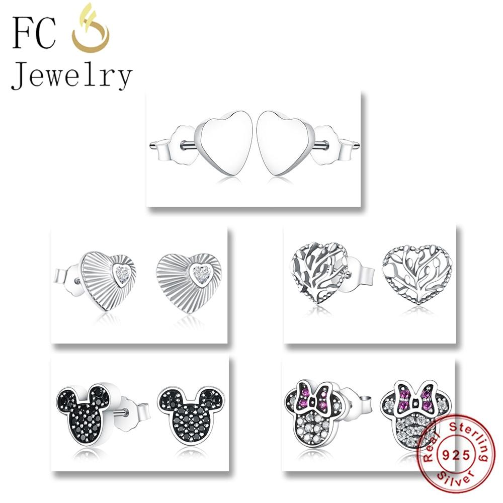 Jewelry & Accessories Capable Girls Real 925 Silver Heart Stud Earrings,rhinestone Black Cubic Zircon Stud Earrings In Stocking Kids Birthday Party Gifts New Stud Earrings
