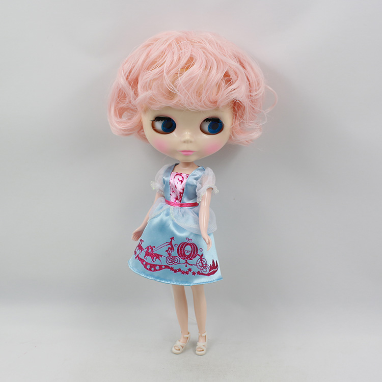Nude Blyth doll pink short hair bjd dolls white skin fashion doll for a modified baby doll toys for girls gift