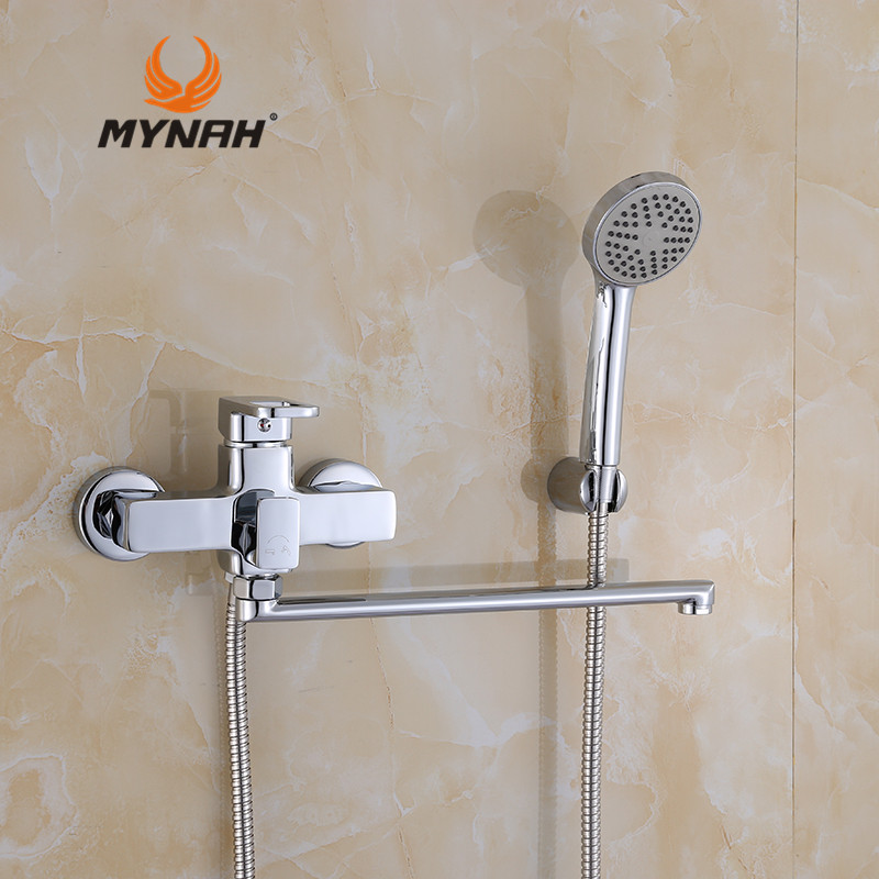 MYNAH Russia Free Shipping Classic Style Bathroom Shower Faucets With Hand Shower Sets Shower Faucet  Bathtub Water Valve M2249 mynah russia free shipping bathroom shower faucet bath faucet mixer tap with hand shower head set wall mounted mynah m3111