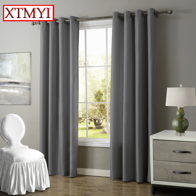 Europe Solid Blackout Curtains For Bedroom Purple/beige/brown Windows Curtains  For Living Room