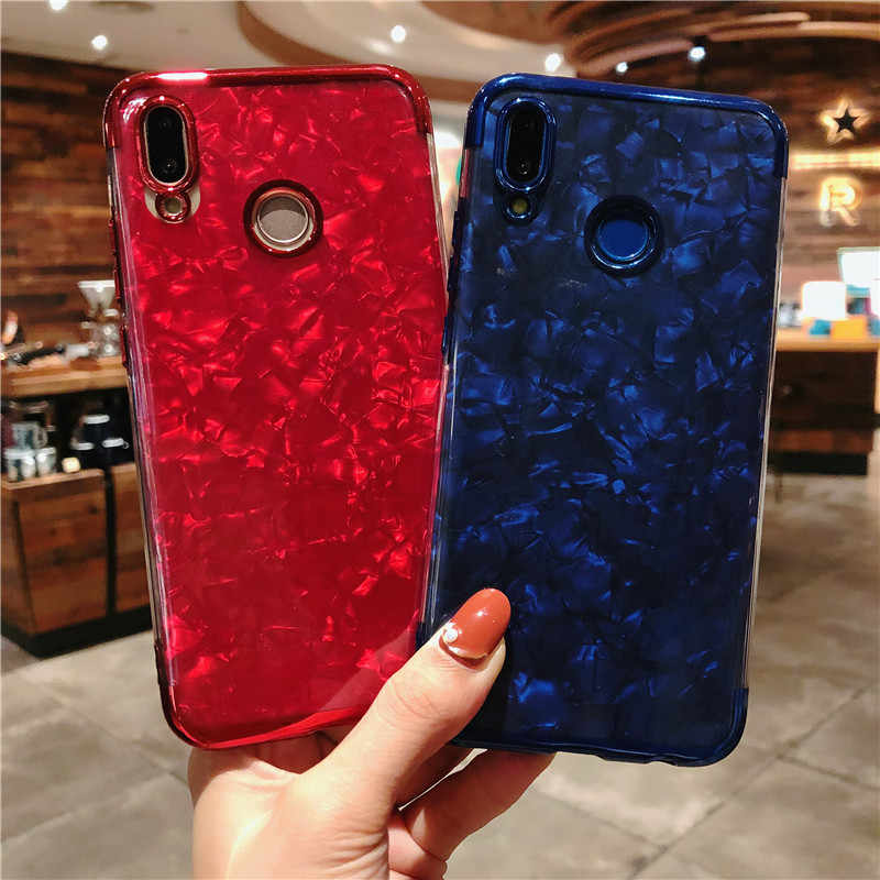 Para Huawei P20 Pro Glitter Caso Bling Do TPU P30 Mármore Lite P10 Companheiro 20 Honor Play P Smart Plus Y6 pro Y7 2019 Casos Tampa Do Telefone