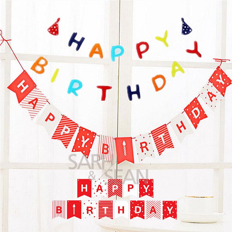 Aliexpress.com : Buy 1 Set Mini Happy Birthday Banner Flag