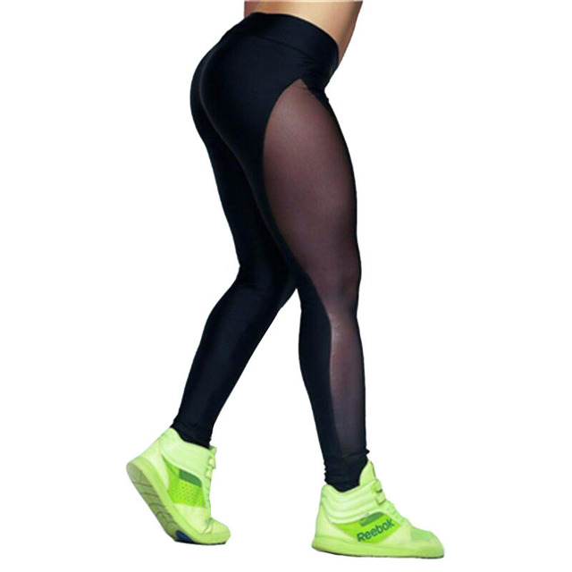 Seenlweix pantalones Yoga negro deporte Leggings Mujer Fitness transparente  Mech Running Tights compresión Pantalones Mujer Deportivas ab5473edf089