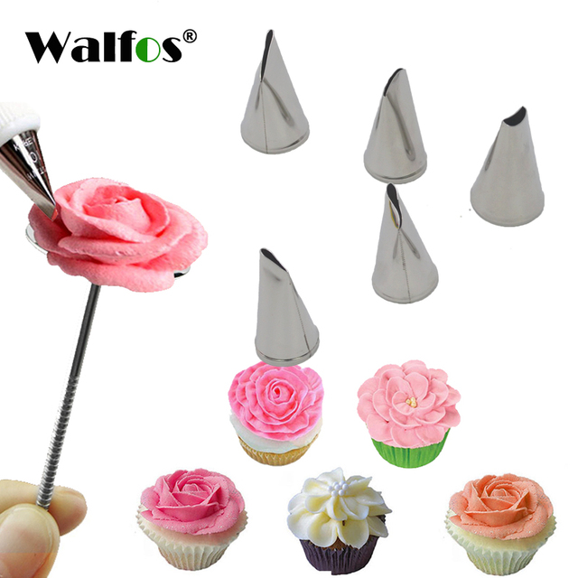 US $2.13 40% OFF|5 Pcs Rose Petal Metal Cream Tips Cake Decorating Tools  Steel Icing Piping Nozzles Set Cake Cream Decorating Cupcake Pastry Tool-in  ...