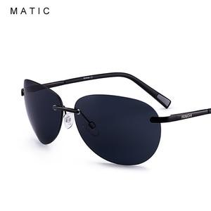 Image 2 - MATIC נהג חום מקוטב ללא שפה תעופה משקפי שמש לגברים נהיגה טייס בציר רטרו סגלגל זכר שמש משקפיים uv400 יוניסקס