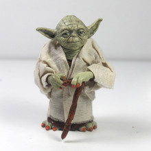 купить 12cm Star Wars Jedi Knight Master Yoda PVC Action Figure Collection Toy Yoda Darth Vader Action Toys For Children Christmas Gift дешево