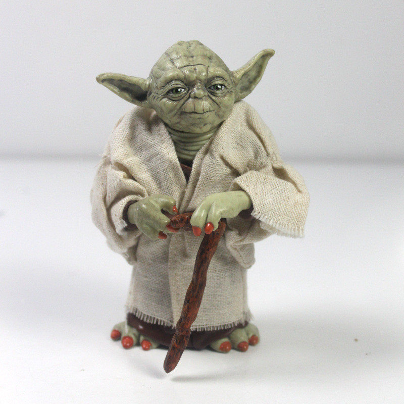 12cm Star Wars Jedi Knight Master Yoda PVC Action Figure Collection Toy Yoda Darth Vader Action Toys For Children Christmas Gift lps toy pet shop cute beach coconut trees and crabs action figure pvc lps toys for children birthday christmas gift