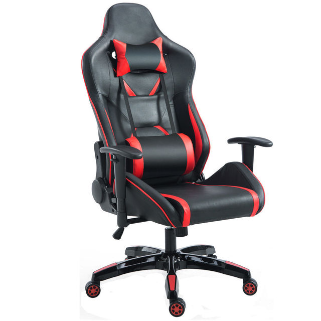 Recliner Gaming Chair Toys R Us Rocking Giantex High Back Racing Office With Lumbar Support Headrest Ergonomic Computer Armchairs Hw56580
