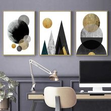 Circle Geometry Canvas Art Posters and Prints Abstract Painting Nordic Style Wall Pictures for Living Room Modern Home Decor(China)
