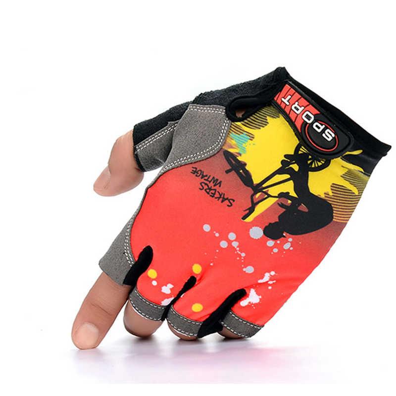 男性女性ユニセックスフィットネス通気性保護手袋屋外乗車半指手袋 FS0413