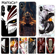 Maiyaca bleach ichigo hollow mask apple iphone 8 7 6 6 s plus x xs max 5 5 s se xr 커버(China)