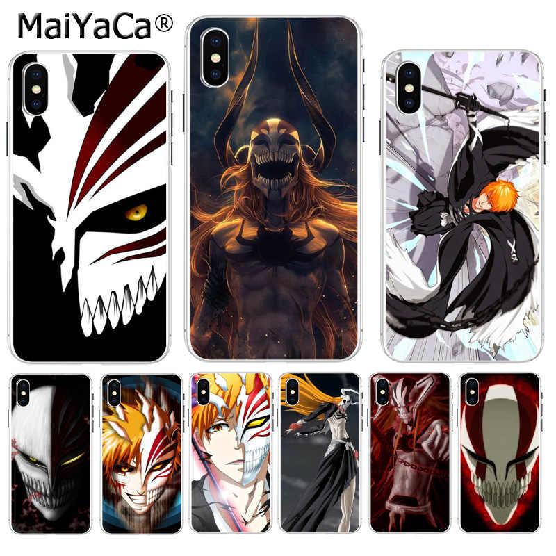 Maiyaca Bleach Ichigo Hollow Masker Atas Terperinci Populer Ponsel Case untuk Apple Iphone 8 7 6 6S Plus X XS Max 5 5S SE XR Cover