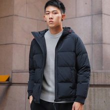 NO.1 DARA 2018 Fashion Mens Winter Warm Jacket Hooded Slim Casual Coat Cotton-padded Parka Overcoat Hoodie Thick