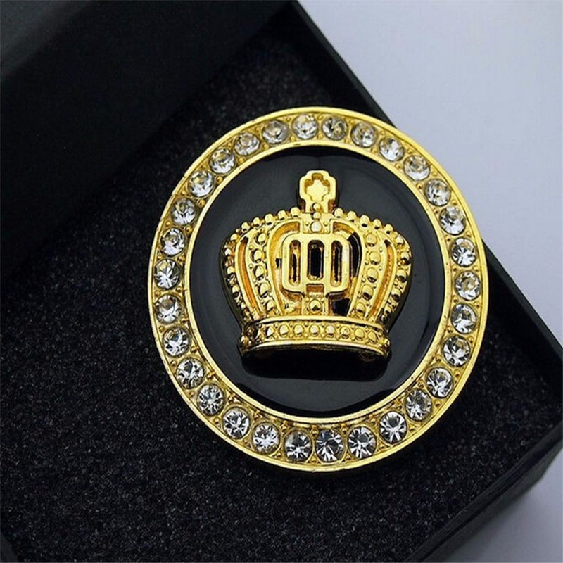 Metal Crown Luxury Auto Car Gold Decorate Emblem Badge Decal Sticker Mortocycle