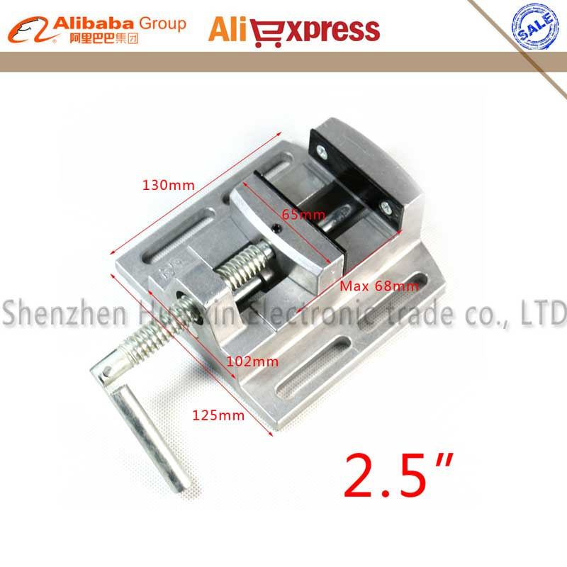 Aluminium alloy 2.5 Flat tongs Vice Milling Machine Bench drill Vise Fixture worktable Max 68mm aluminum alloy table flat bench vise drill press milling vise fixture worktable for wood metal plastic milling machine