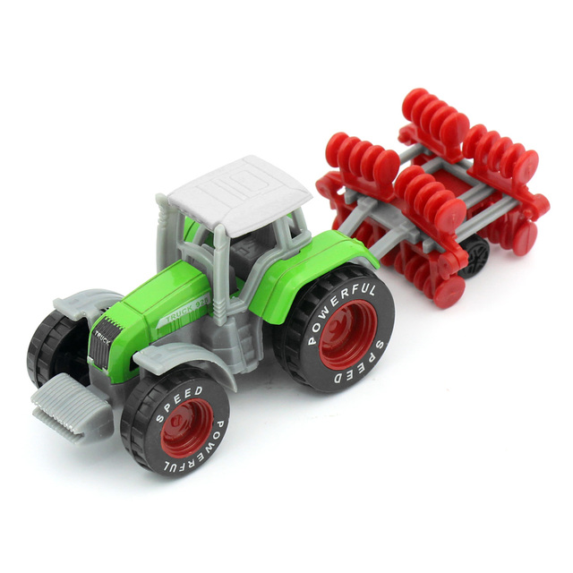 Mini Truk Petani Traktor Pertanian Mesin Sprinkler Diecast Model Mainan Anak-anak Teknik Mobil untuk Anak Laki-laki