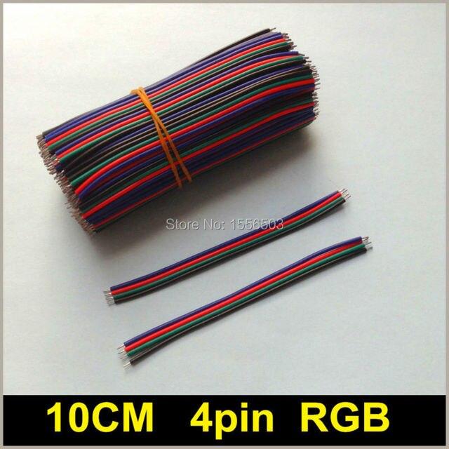 500 Teile/los RGB 4pin 10 CM 22AWG LED RGB streifen anschluss drähte ...