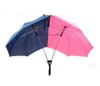 50PCS Novelty Umbrella The Double Umbrella Two Person Umbrella Lover Umbrella Couples Umbrella