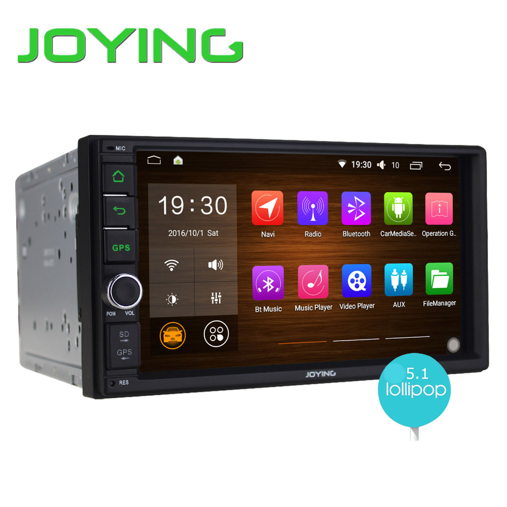 joying new double din autoradio stereo gps navigation 7inch android 5 1 steering wheel universal. Black Bedroom Furniture Sets. Home Design Ideas