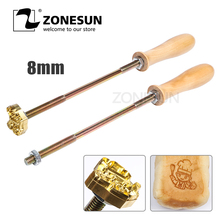 ZONESUN Customized metal stamp iron for food Cake cookie logo wood leather Burning Mold Stamp ,Iron Brass Mold Burning Handle