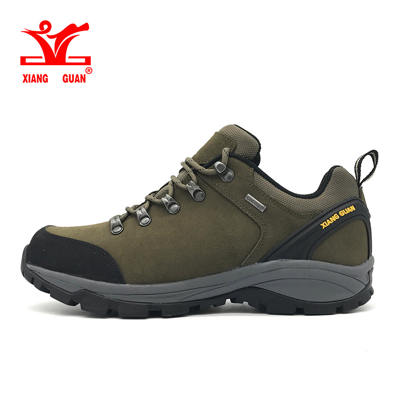 2017 XIANG GUAN man Cattlehide windproof hiking shoes Anti-skid breathable men outdoor climbing Sneakers EUR size 39-45 peak sport speed eagle v men basketball shoes cushion 3 revolve tech sneakers breathable damping wear athletic boots eur 40 50