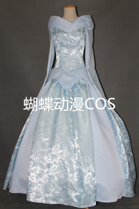 Free shipping princess the sleeping beauty wedding costume dress cosplay Aurora Barbie In A Mermaid Tale for women for party