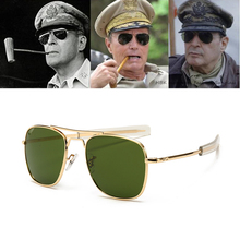 Vintage fashion Aviation AO Sunglasses Men luxury Brand Designer Sun Glasses For Male American Army Military Optical Glass Lens
