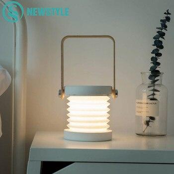 Faltbare Touch Dimmbare Lesen LED Nacht Licht Tragbare Laterne Lampe USB Aufladbare für Kinder Kinder Geschenk Nacht Schlafzimmer