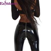 Eastdamo 2017 New Winter Leggings Women Faux PU Leather Leggings Pants High Waist Slim Skinny Black