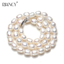 Natural Pearl Necklace wholesale 7-8mm Freshwater Female 40cm 45cm 50cm 55cm 60cm Rice necklace for Mother