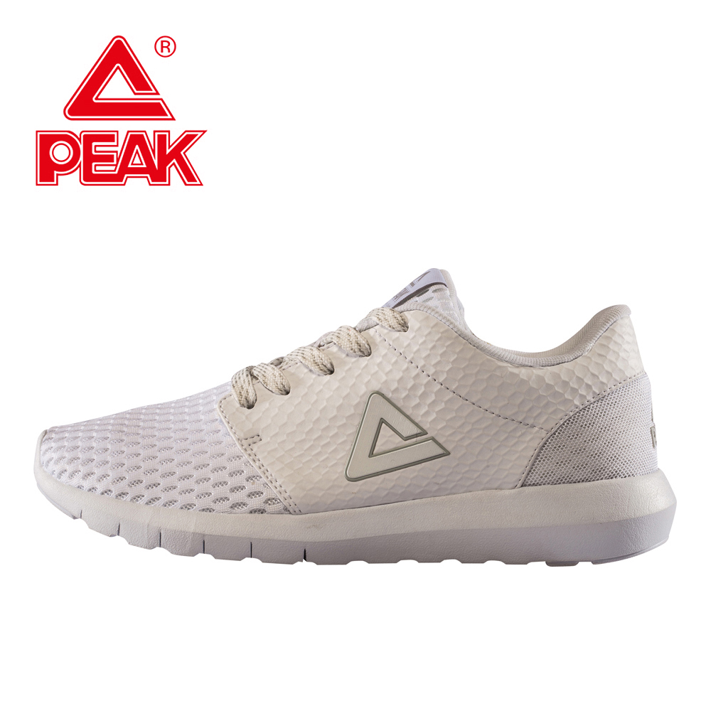 PEAK Walking Shoes Women Shoes Running Women Breathable PEAK Sneakers Sport Shoes Comfortable White Outdoor Sneakers Super Light women running shoes light sneakers summer breathable mesh girl trainers walking outdoor sport comfortable free shipping run