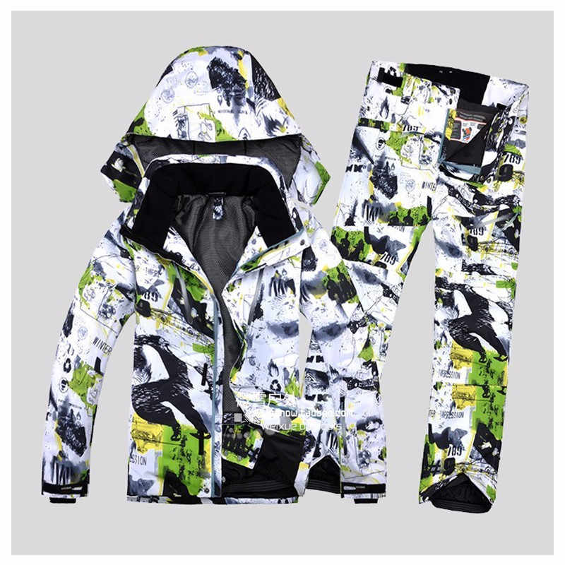 Free shipping Winter Impression New male ski suits jacket+pants Men's water-proof,breathable thermal cottom-padded snowboard Men