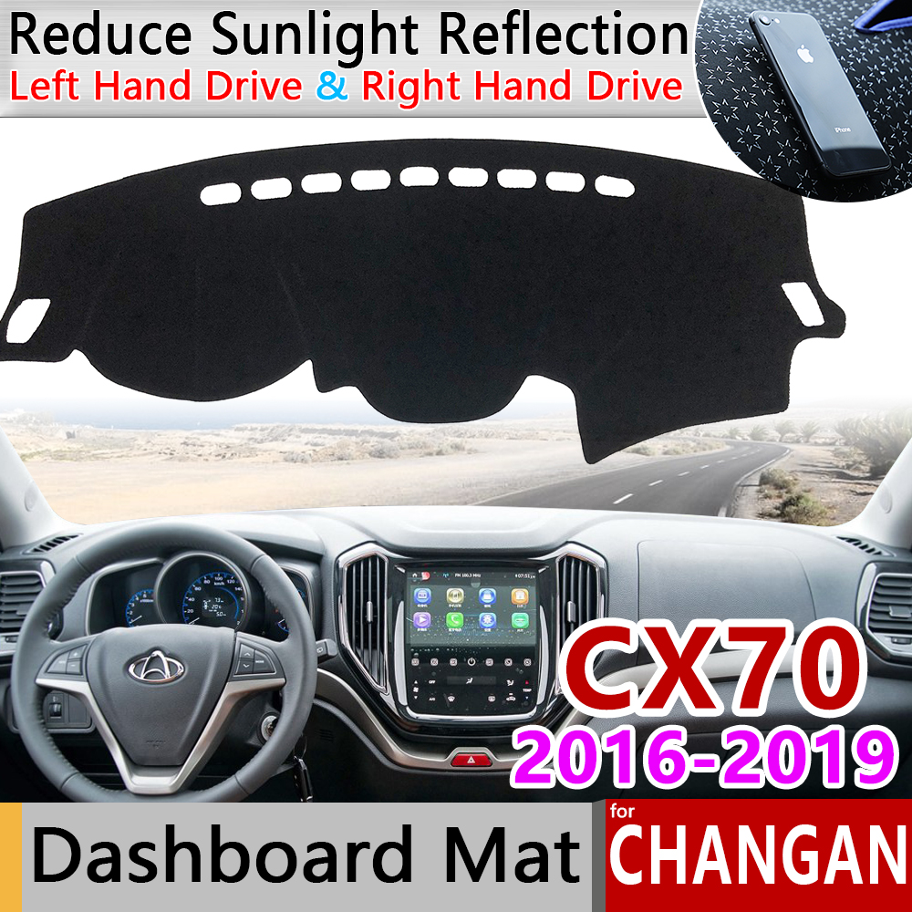 For Changan CX70 2016 2017 2018 2019 Anti-Slip Mat Dashboard Pad Sunshade Dashmat Protect Anti-UV Dash Carpet Car Accessories