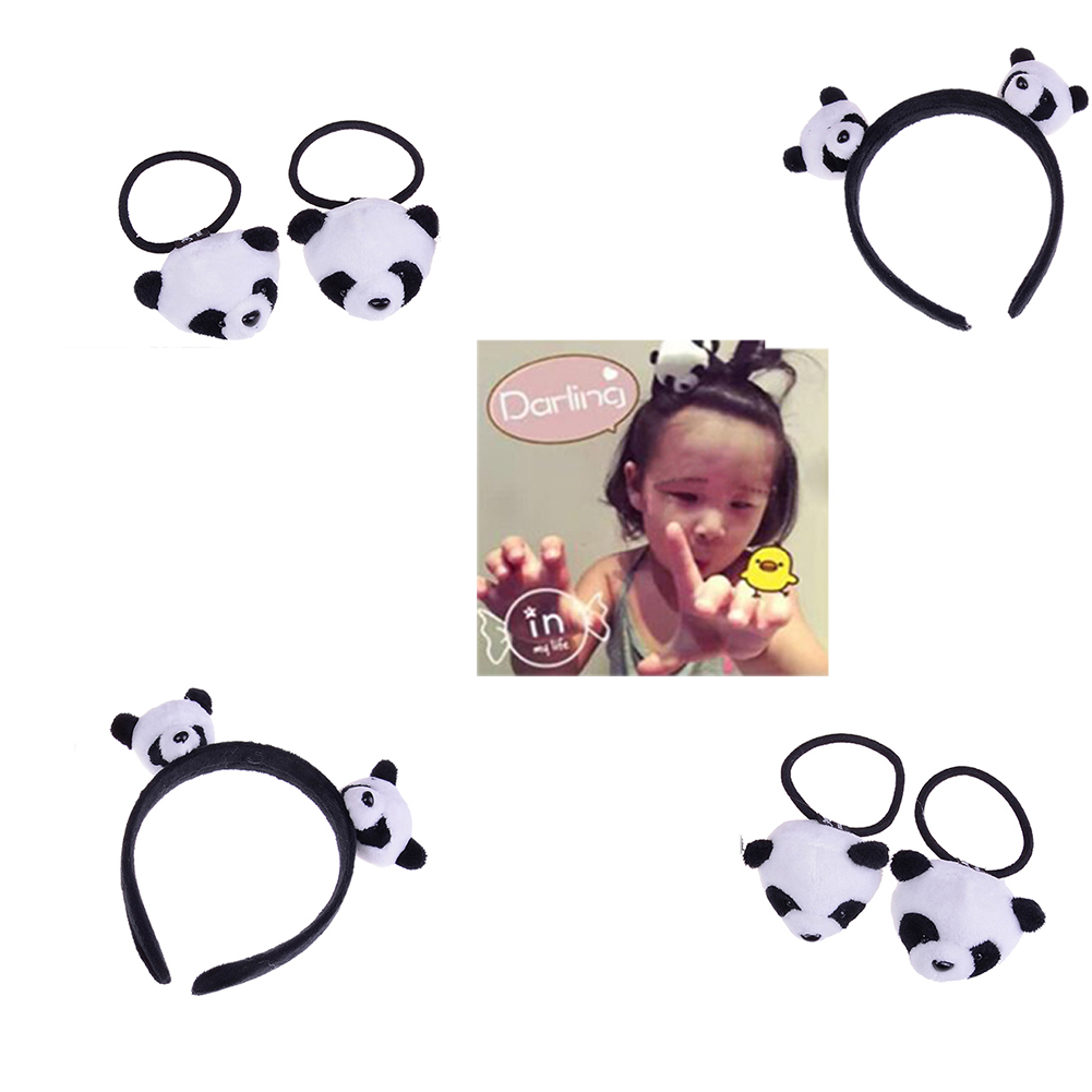 1PC Little plush toys for hair band kid's party gift panda plush stuffed toys