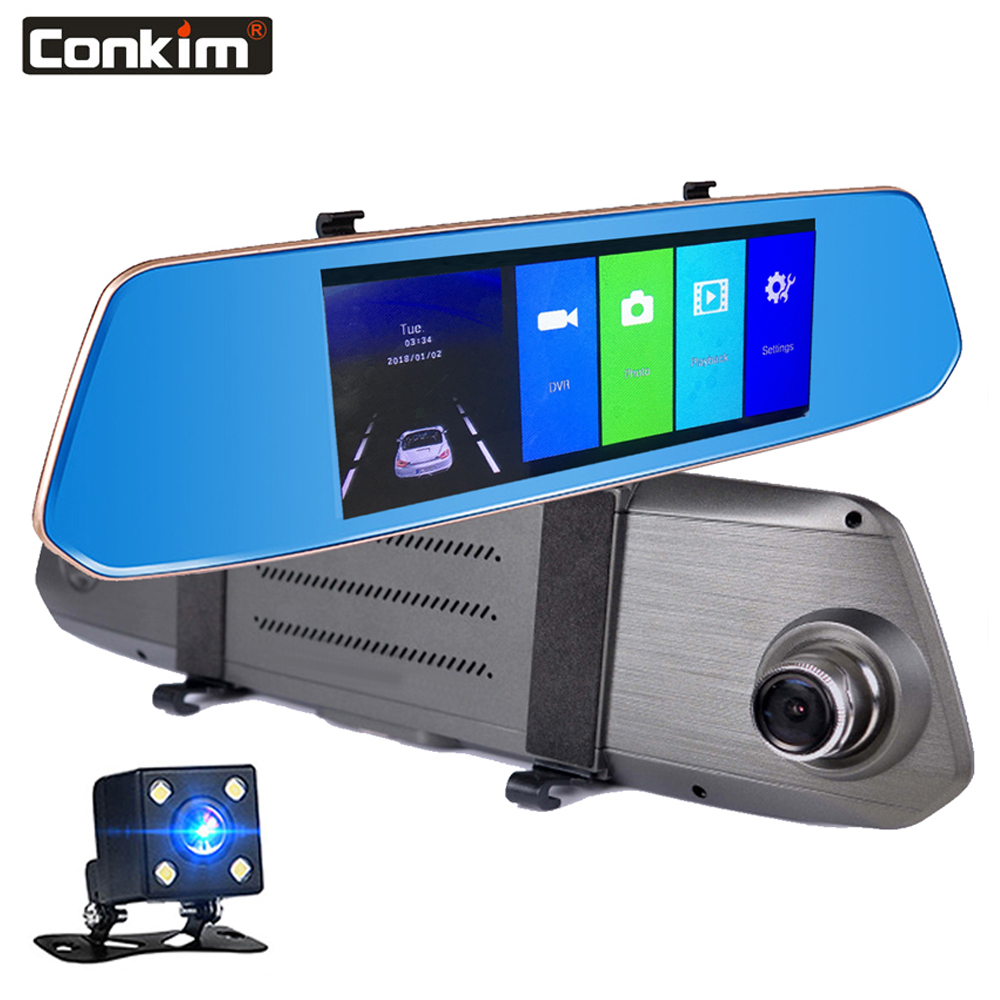 Conkim New 6.86inch Touch Screen Dash Cam Rear View Mirror DVR Car Recorder 1080P Full HD Night Vision Car Camera Video RecorderConkim New 6.86inch Touch Screen Dash Cam Rear View Mirror DVR Car Recorder 1080P Full HD Night Vision Car Camera Video Recorder
