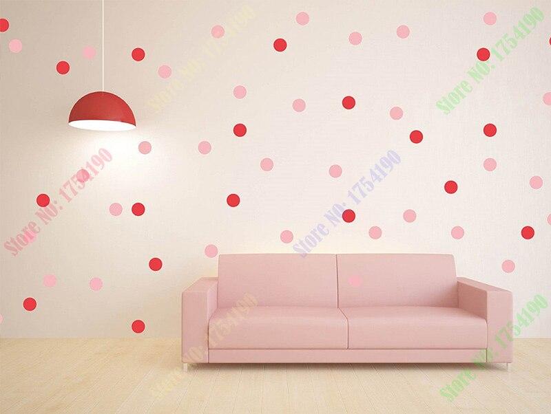 Behang Met Stippen : Stippen vinyl decal diy roze cirkels muur art gekleurde